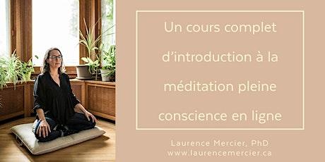 Cours d'introduction à la méditation pleine conscience en ligne billets