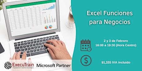 Curso Online Excel Funciones para Negocios entradas