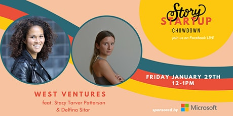 Startup Showdown with West Ventures Delfina Sitar & Stacy Tarver Patterson tickets