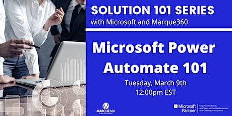 Microsoft Power Automate  101 tickets