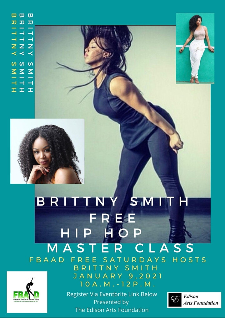 FBAAD FREE SATURDAYS Hosts  Brittny Smith's Hip Hop Class! image