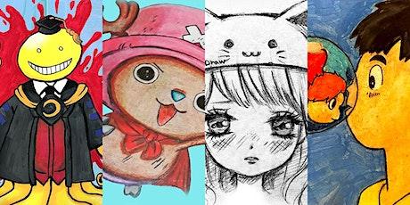 4 WEEKS Anime Virtual Art Lesson Club  @Mondays 5PM (Ages 6+) tickets