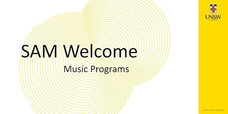 SAM Welcome! Music Program tickets