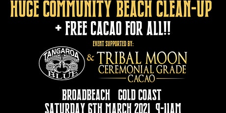 BEACH CLEAN UP + FREE CACAO - GOLD COAST - QLD AUSTRALIA tickets