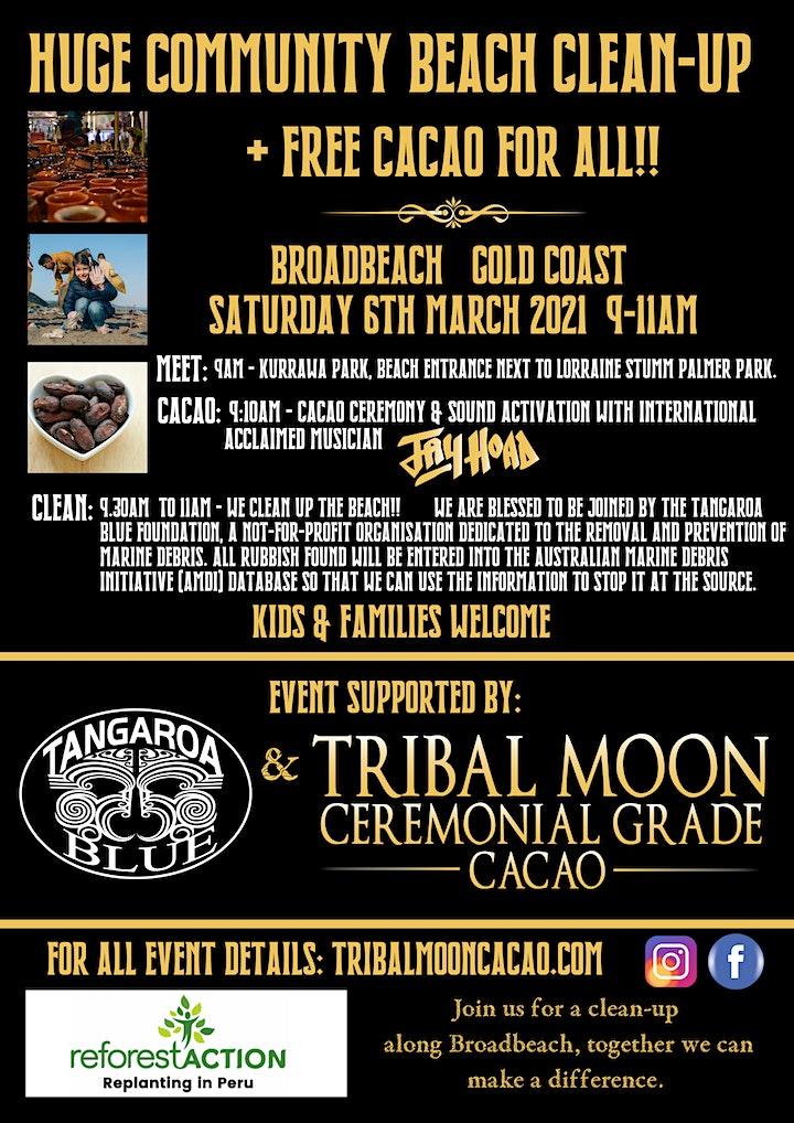 BEACH CLEAN UP + FREE CACAO - GOLD COAST - QLD AUSTRALIA image