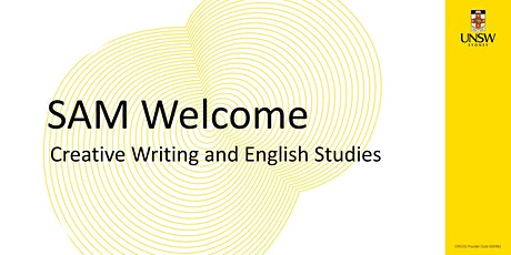 SAM Welcome! Creative Writing and English Studies tickets