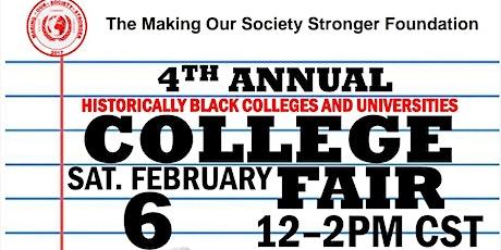 The MOSS Foundation's 4th Annual HBCU Virtual College Fair tickets