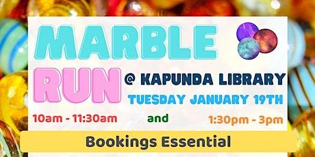 School Holidays - Marble Run Creation @ The Kapunda Library tickets