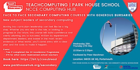 New subject leaders of secondary computing - FACE TO FACE tickets