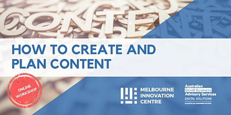 How to Create and Plan Content for your Business tickets