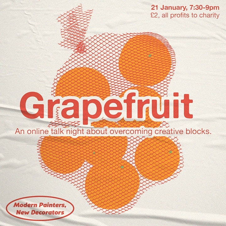 Grapefruit: An Online Talk Night on Overcoming Creative Blocks image