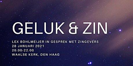 Geluk & Zin: Lex Bohlmeijer in gesprek met zingevers tickets
