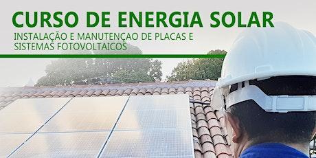Curso Energia Solar - Instalação e Manutenção (25/01/2021 à 28/01/2021) ingressos