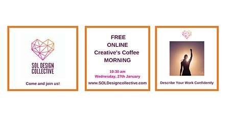 Online Creative's Coffee Morning: Describe Your Work Confidently tickets