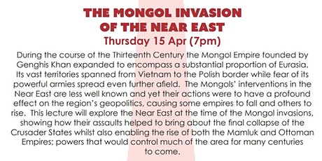 ONLINE TALK - The Mongol invasion of the Near East tickets