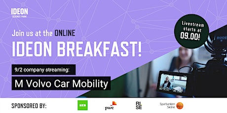 Ideon Breakfast Online with M Volvo Car Mobility tickets