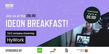 Ideon Breakfast Online with HyWork tickets