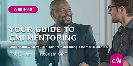 Your Guide to CMI Mentoring tickets