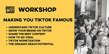 Workshop: Make Your Food & Drink Brand TikTok Famous tickets