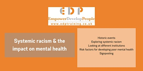 Systemic racism & the impact on mental health tickets