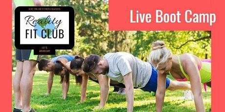 Mondays 9am LIVE Body Boot Camp: Body Weight Drills @ Home Workout tickets