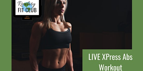 Mondays 11am PST LIVE Abs XPress: 30 min Abs and Core @ Home Workout entradas