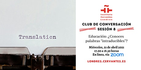 Club de Conversación en español - Sesión 8 boletos