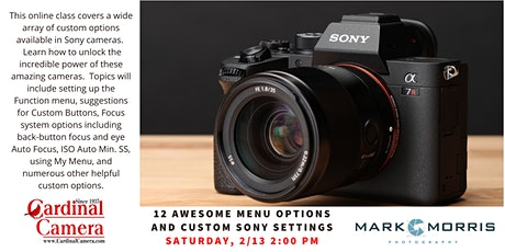 Twelve Tips for Setting Up Your Sony Mirrorless Camera tickets