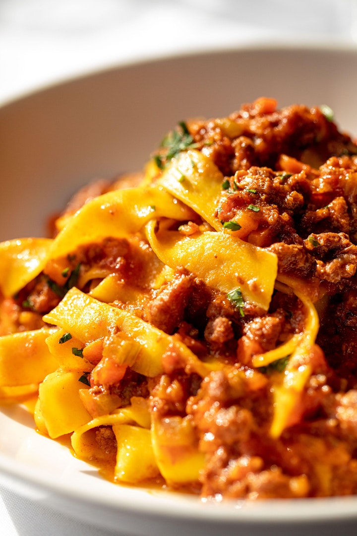 Virtual Hands-on Cooking Class-  Bolognese Class with Tagliatelle Pasta image