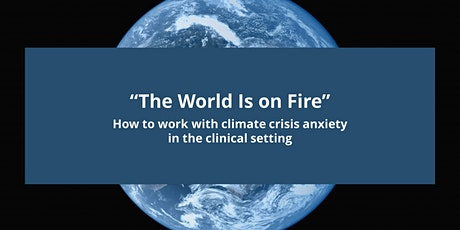 The World Is On Fire: Working w climate crisis anxiety in clinical settings tickets