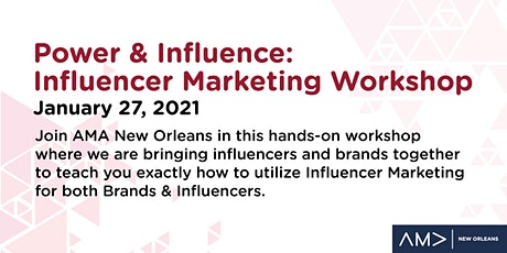 Workshop: Getting In to Influencer Marketing tickets