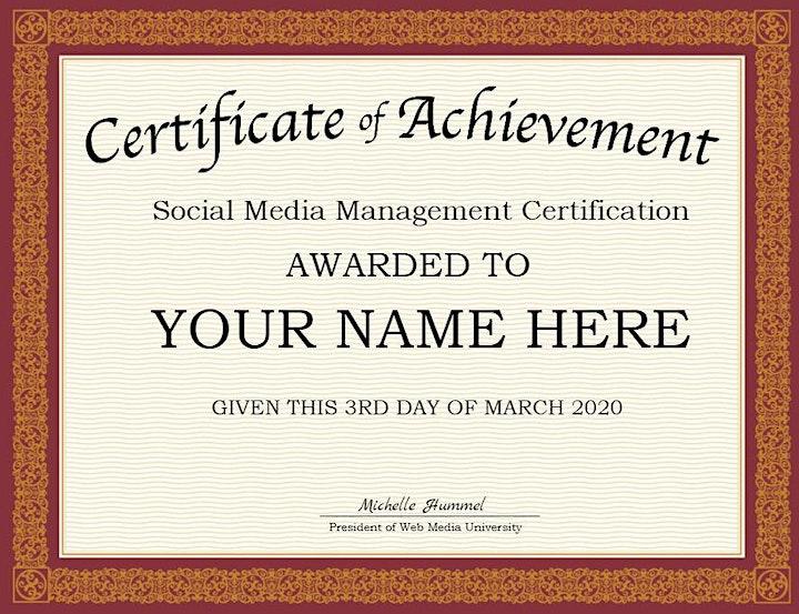 Virtual Live Social Media Management Beginner Boot Camp Certification image