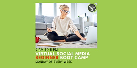 Virtual Live Social Media Management Beginner Boot Camp Certification tickets