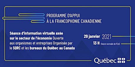 Webinaire sur le Programme d'appui à la francophonie canadienne, billets