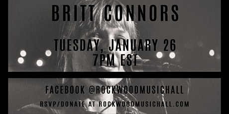 Britt Connors - Facebook Live - THANK YOU for your generous donation. tickets