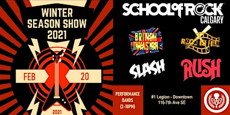 School of Rock Calgary Winter Season Show Performance - ROCK IN FILM tickets