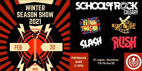 School of Rock Calgary Winter Season Show Performance - RUSH tickets