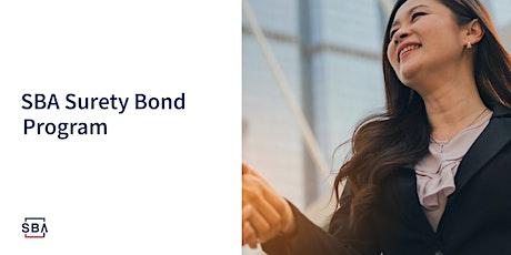 Surety Bond Guarantee Program tickets