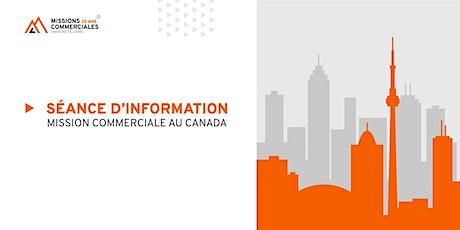 Mission commerciale à Toronto tickets