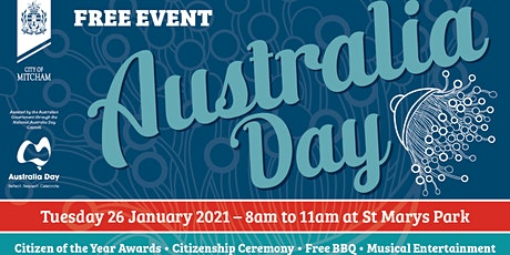 City of Mitcham Citizenship Ceremony Australia Day January 26, 2021 tickets