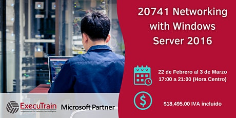 Curso  Oficial 20741 Networking with Windows Server 2016 bilhetes