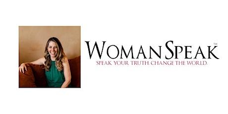 WomanSpeak public speaking training tickets