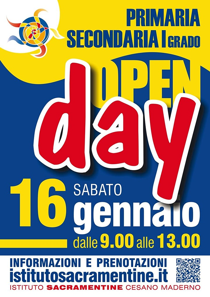 Immagine Open Day ELEMENTARI - Sabato 16 Gennaio dalle 11.30 alle 12.30