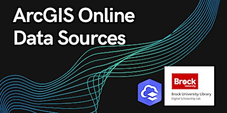 ArcGIS Online: All About Data Sources tickets