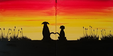 """Virtual Painting Party """"Best Buddies"""" with Creatively Carrie! tickets"""