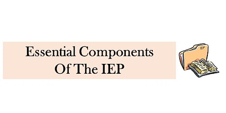 IEP I: Essential Components of the IEP tickets
