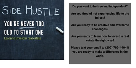 Side Hustle: Learn to Invest in Real Estate tickets