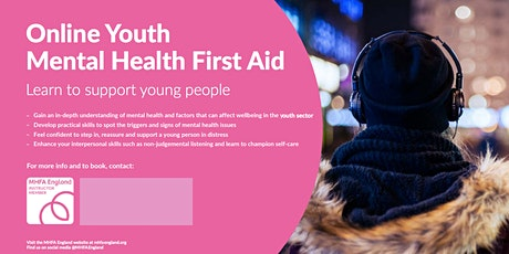Youth Mental Health First Aid - Online tickets