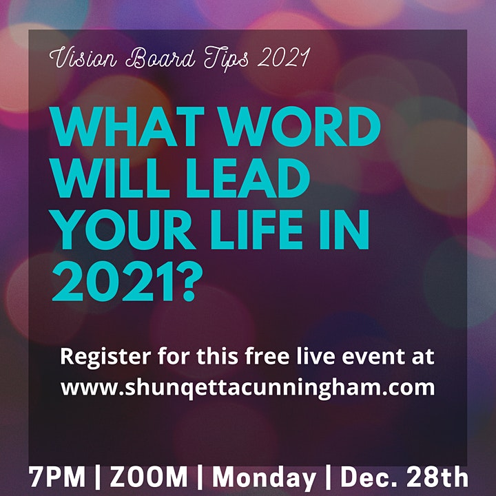 Vision Board : What Word Will Lead Your Life in 2021? image