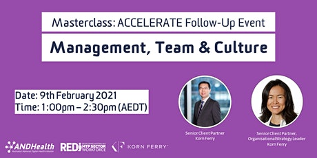 Masterclass Follow-Up Event | Management Team and Culture tickets